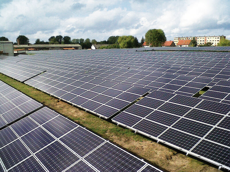 2.8 MW Solar park with Luxor Solar modules in Malchin - Germany